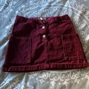 Zara Corduroy girls skirt